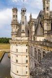 frankrijk Het bovenste gedeelte van het kasteel van Chambord met terras, 1519 - 1547 jaar Royalty-vrije Stock Foto's