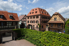 Frankrijk, het dorp van Bergheim in de Elzas Royalty-vrije Stock Afbeelding