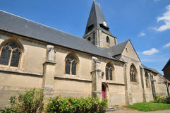 Frankrijk, het schilderachtige dorp van Boury Engelse Vexin Royalty-vrije Stock Foto's