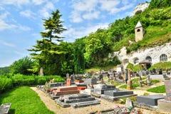 Frankrijk, het schilderachtige dorp van Haute-Eiland Stock Foto