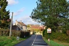 Frankrijk, het schilderachtige dorp van het Dorp van Wy dit Joli Stock Afbeelding