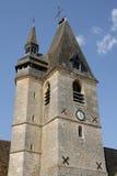 Frankrijk, het schilderachtige dorp van La Chaussé e-n Ivry Stock Afbeelding