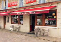 Frankrijk, het schilderachtige dorp van Moisson Stock Foto