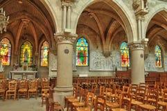 Frankrijk, het schilderachtige dorp van Vigny Stock Foto's