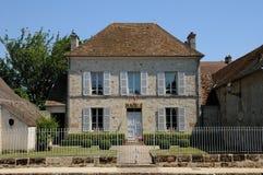 Frankrijk, het stadhuis van Commeny Stock Foto