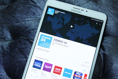 Frankrijk 24 mobiele app Royalty-vrije Stock Afbeelding