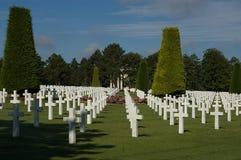 Frankrijk, Normand Amerikaanse oorlogsbegraafplaats Stock Afbeelding