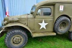 Frankrijk, oude militaire uitrusting van de tweede wereldoorlog Royalty-vrije Stock Afbeeldingen