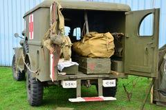 Frankrijk, oude militaire uitrusting van de tweede wereldoorlog in lucht s Royalty-vrije Stock Foto