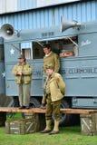 Frankrijk, oude militaire uitrusting van de tweede wereldoorlog in lucht s Stock Foto's