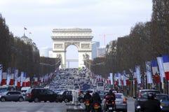 Frankrijk; Parijs; het bezoek van Shimon Peres Stock Foto
