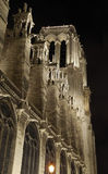 Frankrijk. Parijs. Notre Dame bij nacht. Royalty-vrije Stock Afbeeldingen
