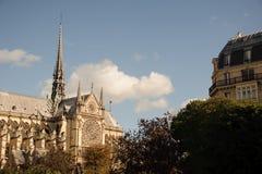 FRANKRIJK, PARIJS - OKTOBER 20, 2017: De kathedraal van Notredame de paris in de dag stock foto