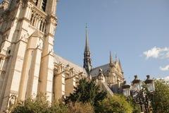 FRANKRIJK, PARIJS - OKTOBER 20, 2017: De kathedraal van Notredame de paris in de zonnige dag royalty-vrije stock foto