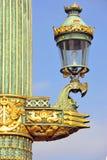 Frankrijk, Parijs: Oude lantaarnpaal Royalty-vrije Stock Afbeeldingen
