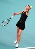 Frankrijk 's Nathalie Dechy bij Open GDF SUEZ 2009 Stock Foto