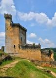 Frankrijk, schilderachtig kasteel van Commarque in Dordogne stock foto's