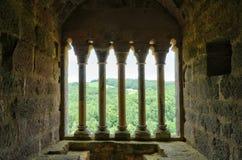 Frankrijk, schilderachtig kasteel van Commarque in Dordogne royalty-vrije stock fotografie