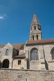Frankrijk, schilderachtige kerk van Bouconvillers Stock Fotografie