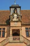 Frankrijk, schilderachtige oude stad van Molsheim royalty-vrije stock afbeelding