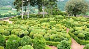 Frankrijk, schilderachtige tuin van Marqueyssac in Dordogne Stock Afbeelding