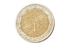 Frankrijk twee euro muntstuk Stock Foto