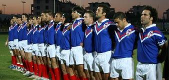 Frankrijk XIII versus Schotland XIII Stock Foto's
