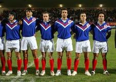Frankrijk XIII versus Schotland XIII Stock Foto