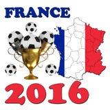 Frankrike 2016 Arkivfoton