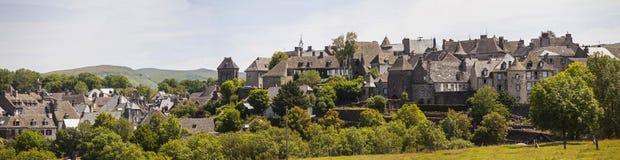 Frankrike Auvergne, Salers Arkivfoton