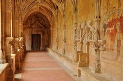 Frankrike Cadouin abbotskloster i Perigord arkivfoto