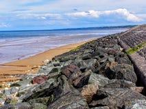Frankrike Calvados, Colleville sur Mer, Omaha Beach, strand av landningen Fotografering för Bildbyråer