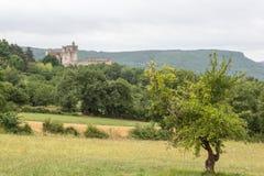 Frankrike Château de Beynac Arkivbild