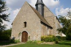 Frankrike den historiska kyrkan av Mondreville Royaltyfri Bild