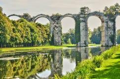 Frankrike den pittoreska akvedukten av Maintenon Fotografering för Bildbyråer