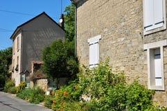 Frankrike den pittoreska byn av Auvers-sur-Oise Arkivfoto