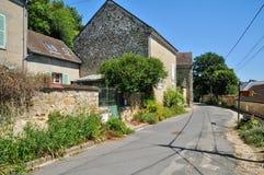 Frankrike den pittoreska byn av Auvers-sur-Oise Royaltyfri Bild