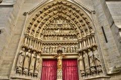 Frankrike den pittoreska staden av Amiens i Picardie arkivfoton