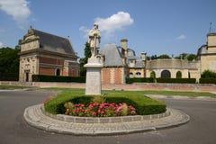 Frankrike den pittoreska staden av Anet Royaltyfria Bilder