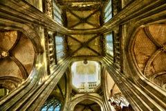 Frankrike den pittoreska staden av Rouen i Normandie Arkivfoton