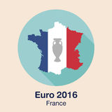 Frankrike euro 2016 logoer Plan design stock illustrationer