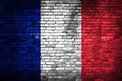 Frankrike flagga Arkivbild