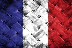 Frankrike flagga, flagga på trät Royaltyfria Foton
