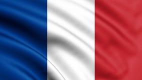 Frankrike flagga som blåser i vinden fönster för textur för bakgrundsdetalj trägammalt 3d tolkning, våg Uefa-euro 2020 Fotboll il vektor illustrationer