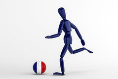 Frankrike fotboll Arkivfoto