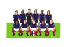 Frankrike fotbollslag 2018 Royaltyfri Illustrationer