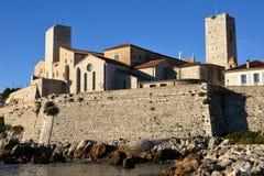 Frankrike franska riviers, Antibes, gammal stad, museum Arkivfoton
