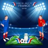 Frankrike mästerskap 2016 Arkivbilder