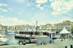 Frankrike Marseille scenisk sikt Royaltyfri Fotografi