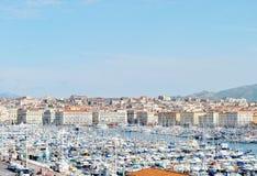 Frankrike Marseilles hamn Royaltyfria Bilder
